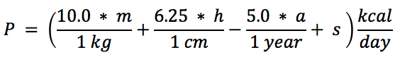BMR Calculation